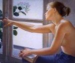 Francine Van Hove à janela leitora