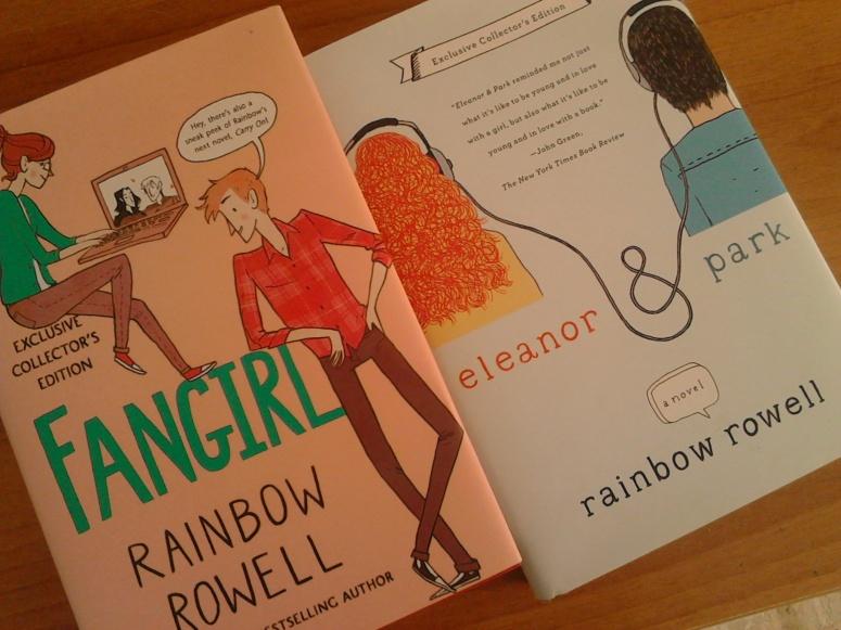 le mie copie di Eleanor&Park e Fangirl, exclusive collector's edition della Barnes&Noble